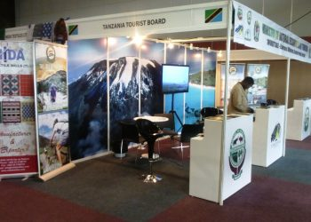 """The Tanzania Tourism Board stand at the """"Tanzania Week in Kenya"""" business forum in Nairobi which ran between April 25 and 27."""