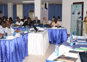 Maritime and Shipping Affairs PS Nancy Karigithu address participants at the National Workshop on Maritime Transport Policy in Kilifi, Kenya.