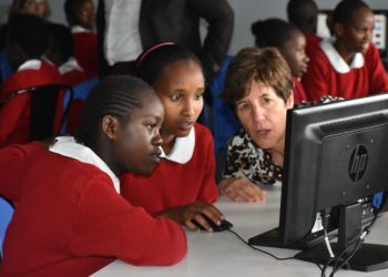 The event dubbed She Can Code Challenge is part of GE's Girls initiative designed to encourage girls to explore the world of science, technology, engineering and math and STEM-based careers