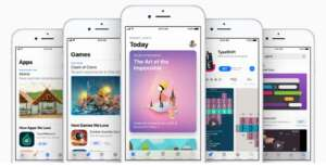 The Apple App Store. The company has been purged thousands of illegal gambling apps from its China platform.