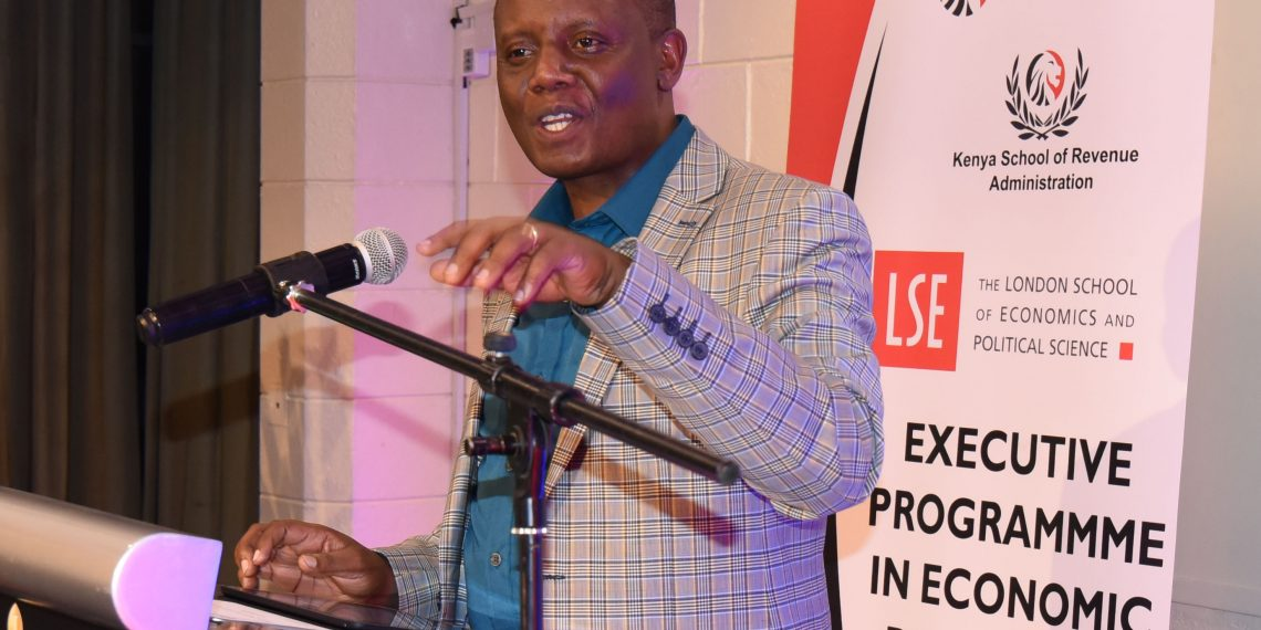 The Ag Head, Kenya School of Revenue Administration Dr Fred Mugambi. KRA and LSE have partnered to offer an executive programme in economic diplomacy.