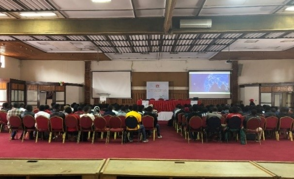 The Huawei presentation at Multimedia University. The Huawei ICT competition is expected to register three thousand Kenyan students.