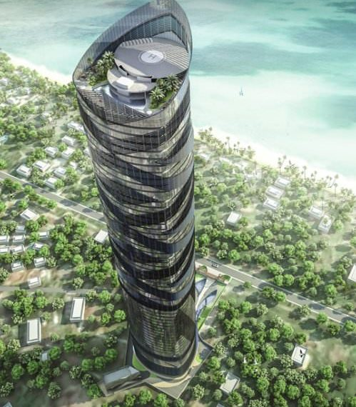 An artist's impression of the Palm Exotjca. Once complete, the structure will be 61 Storeys high.
