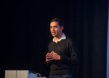 "Sachin Kansal, Uber's Global Head of Safety Product , addressing drivers ""I am here to listen to you, to your safety experiences, so I know what my team and I can build to help with your safety."""