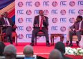 President Uhuru Kenyatta (Centre) with DP Ruto and Trade CS Peter Munya during the SME Roundtable at Strathmore University in Nairobi. Kenyatta said his government will streamline its processes so that it accords Small and Medium Enterprises (SMEs) the support they deserve www.exchange.co.tz