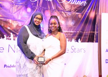 Principal Secretary, State Department of Broadcasting & Telcom Fatuma Hirsi and Redhouse Public Relations Account Executive Angela Maina during the 2018 Public Relations Society of Kenya Awards of Excellence.- The Exchange