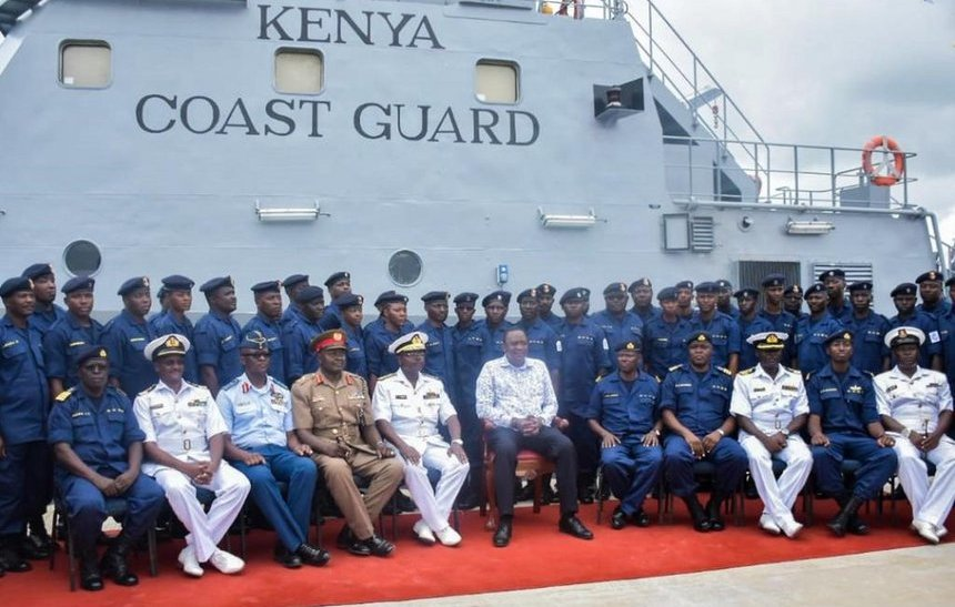 Kenya has made new developments in its efforts to protect her territorial waters mainly the Indian Ocean. This is by formation of the new Kenya Coast Guard Service commissioned by President Uhuru Kenyatta on Monday. During the commissioning, President Kenyatta said the new KCGS will safeguard the country from Illegal, Unreported and Unregulated Fishing by foreign trawlers, smuggling of contrabands, trafficking and degradation of the marine ecosystem among other threats. The President further directed the recovery of all gazetted fish landing sites in Kenya and warned law breakers saying Kenya will arrest and prosecute those who violate the Kenya maritime laws.