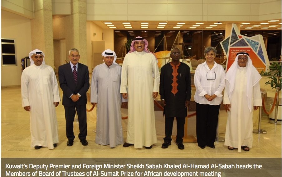 The prize amount of one million US dollars, offered by the State of Kuwait, is awarded annually to individuals or institutions within one of the three fields of Food Security, Health and Education
