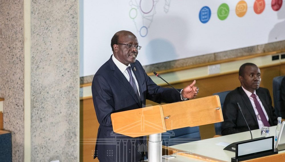 Dr. Mukhisa Kituyi during the Africa eCommerce Week in December. He said that the EAC is a driving force in Africa, displaying good practice in the implementation of trade facilitation reforms and trade in East Africa will be simpler. www.exchange.co.tz