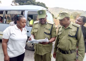 A previous police inspection in Iringa. Starting January 2019, overloaded vehicles will face heavy penalties in Tanzania following the enactment of the Vehicle Load Control Act www.exchange.co.tz