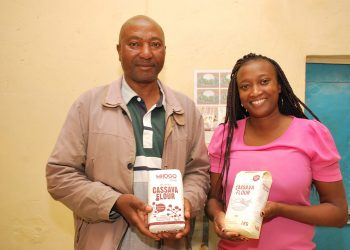 Paul Gikebe (Left) with his daughter Elizabeth Gikebe- The Exchange