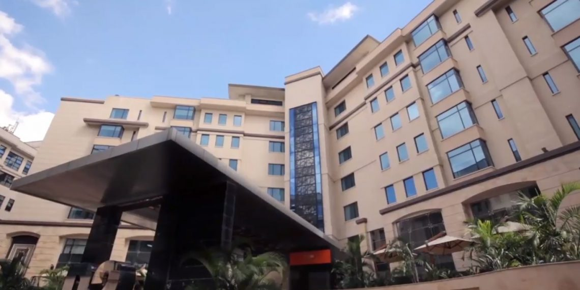 The Dusit D2 Hotel in Riverside. It is feared that terrorist have attacked the premises with armed personnel evacuating the area. www.exchange.co.tz