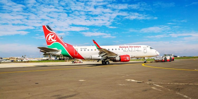 A Kenya Airways plane. A battle for African skies is brewing as competition becomes tougher for darling and established airlines. www.exchange.co.tz