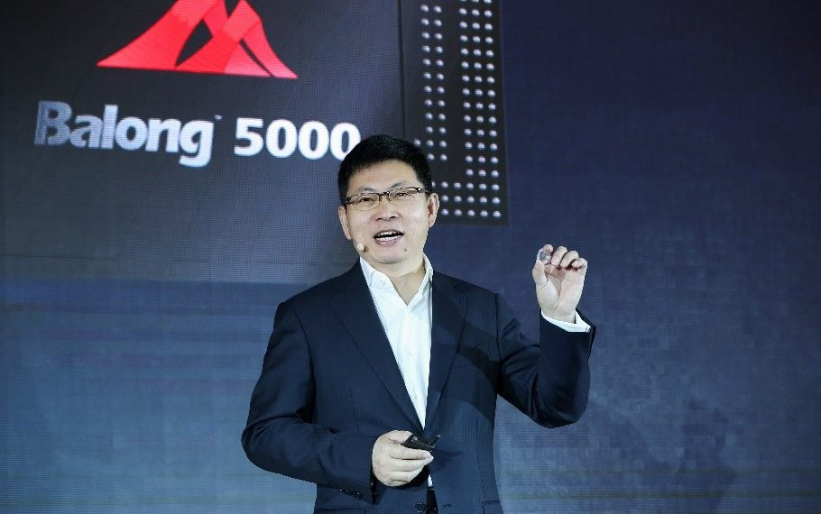 The CEO of Huawei's Consumer Business Group, Richard Yu. Huawei has launched its 5G multi-mode chipset Balong 5000 with the first commercial 5G device, the Huawei 5G CPE Pro. www.exchange.co.tz