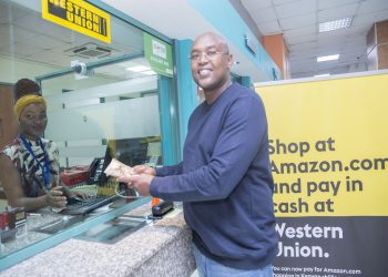 A Western Union agent in Nairobi, Kenya. Western Union has unveiled a new payment option that allows Amazon customers in Kenya to pay in local currency for their Amazon purchases. www.exchange.co.tz