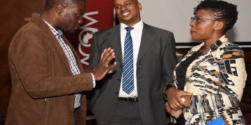 (L-R) BAT IT Business Unit IT Manager Edgar Okioga, SEACOM Business Sales Lead Patrick Ndegwa and KAM CEO Phylis Wakiaga. They say ICT will help Kenya achieve its 2022 GDP growth ambition with cutting-edge digital tools playing a key role to advance manufacturing, job creation and economic development. [Photo/SEACOM]
