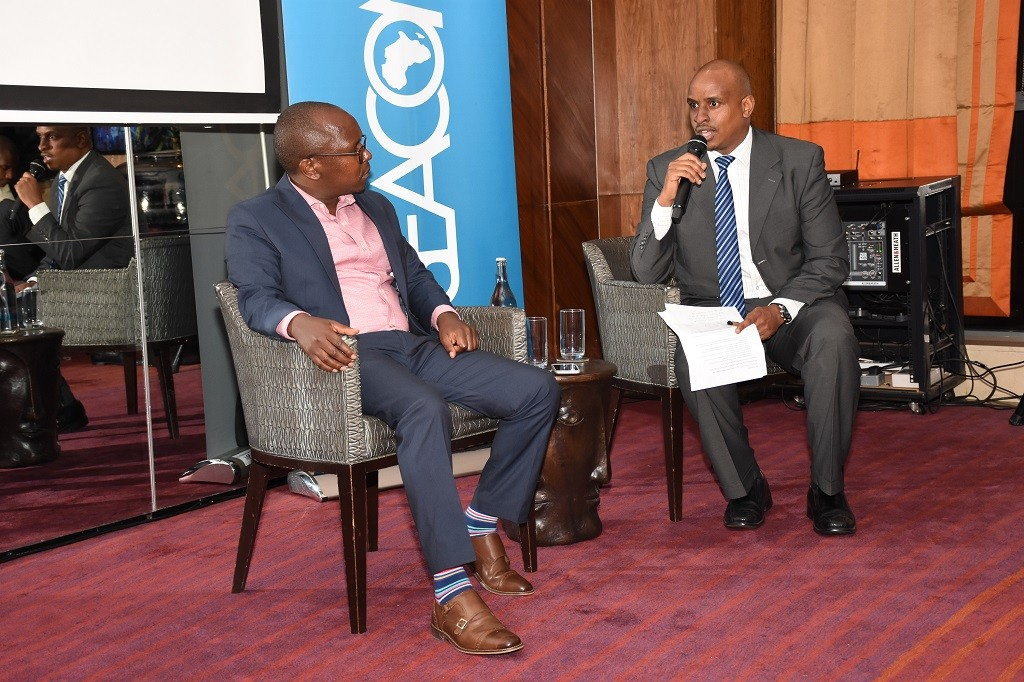 SEACOM's Product Manager Francis Ndegwa and Business Sales Lead Patrick Ndegwa (R). Patrick says that cutting-edge digital tools will play a key role to advance manufacturing, job creation and economic development in Kenya. www.exchange.co.tz