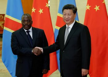 Former DRC President Joseph Kabila with his Chinese Counterpart Xi Jin Ping. China is securing Africa for future electric cars supplies especially Congo's cobalt and copper. www.exchange.co.tz