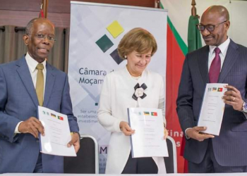 Adriano Maleiane, Teresa Ribeiro, Mateus Magala who signed Memorandum of Understanding (MOU) for the implementation of the Lusophone Compact. The Lusophone Compact provides risk mitigation, investment products and technical assistance to accelerate private sector development in Mozambique. www.exchange.co.tz
