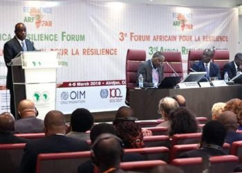 AfDB's Senior Vice-President Charles Boamah opening the third annual Africa Resilience Forum (ARF). He said that internal migration would fuel Africa's growth and development. www.exchange.co.tz