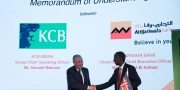 KCB Bank Kenya Limited has signed a deal with Morocco's giant lender Attijariwafa Bank Group to drive cross-border trade and deepen financial inclusion. The agreement inked in Casablanca is expected to help promote the sharing of best practices in the banking, financial and business in East and North Africa. With this agreement, KCB Bank and Attijariwafa bank group aims to give a new impetus to South-South cooperation and renew their contribution to Africa's economic integration.