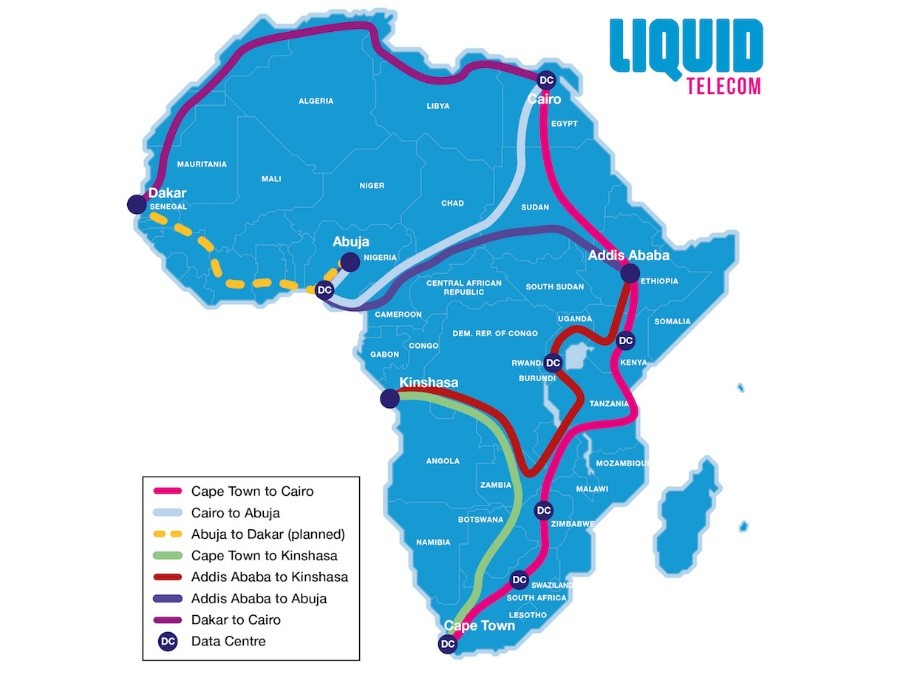 The Liquid Telecom Fibre Network. Liquid has announced the availability of Microsoft Azure across its pan-African network starting with five countries. www.exchange.co.tz