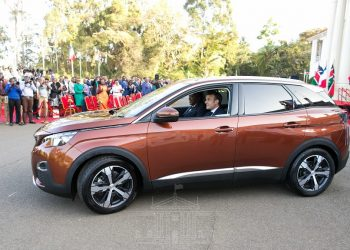 The Peugeot 3008. President Uhuru Kenyatta and French President Emmanuel Macron on Wednesday unveiled the car, one of the models locally assembled in Kenya. www.exchange.co.tz