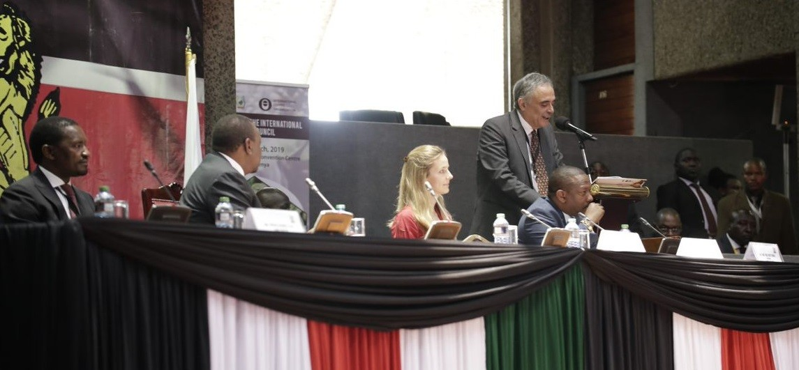 ICO Director Jose Sette at the ICO Forum in Nairobi. He said Kenya has the potential to be a leader in the specialty coffee market in the world with its high quality coffee as one of its most important assets. www.exchange.co.tz